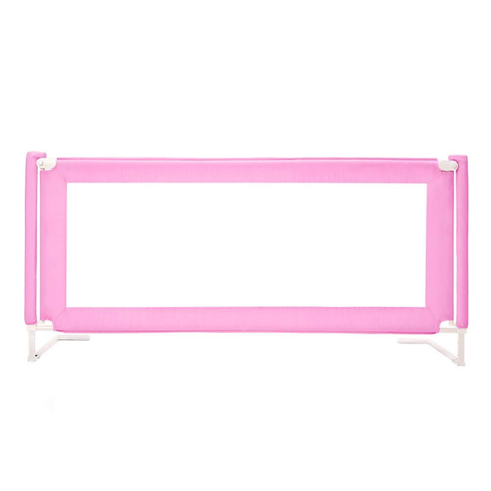 ベッドフェンス- ベビーベッド用ベッドレール超高層ベッドガードセーフティシングルロングベビーベッド(幼児用) - オプションのカラー (色 : Pink, サイズ さいず : 150cm length) 150cm length Pink B07JK9HTHB