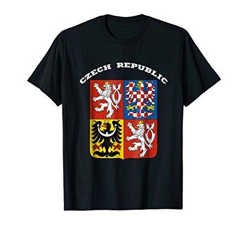 Czech Republic T-shirt Coat of arms Tee Flag souvenir - Czech Of Arms Coat
