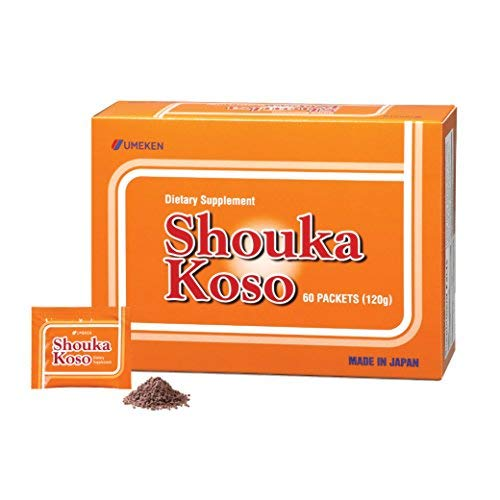 Umeken Shouka Koso- Digestive Enzymes from Fermented Vegetables and Grains to Help with Indigestion, Hyperacidity, Bloating, Overeating. Made in Japan. 60 Packets