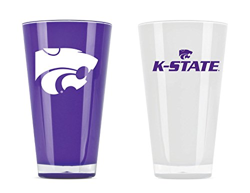 NCAA Kansas State Wild Cats 20oz Insulated Acrylic Tumbler Set of 2