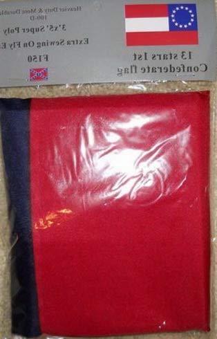 Kaputar 1ST National Confederate Stars Bars 13 Star CSA Southern Flag 3x5 Flag New | Model FLG - 6251
