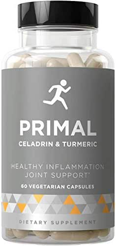 Primal Joint Support & Healthy Inflammation – Fast-Acting Supplement, Whole-Body Flexibility, Active Mobility Men & Women – Celadrin, Turmeric Curcumin, Boswellia – 60 Vegetarian Soft Capsules