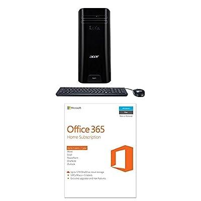 Acer Aspire Desktop, 7th Gen Intel Core i3-7100, 8GB DDR4, 1TB HDD, Windows 10 Home, TC-780-ACKi3