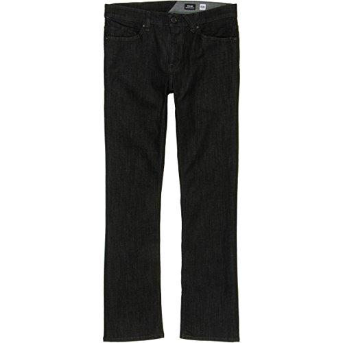 Volcom Men's Solver Stretch Denim Jean, Black rinser, (Cotton Denim Mens Jeans)