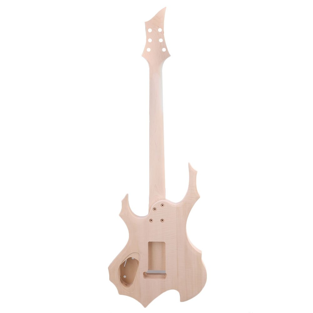 Amazon.com: Mxfans 24F DIY Unfinished HSH Electric Guitar Builder Kit With All Parts: Musical Instruments