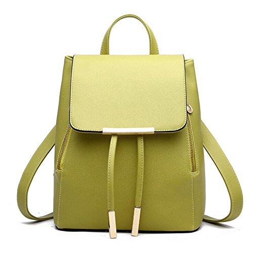 Leather School For Girls Women Handle Backpacks Green Bags Fashion Teenagers Herald Quality Pu High Backpack Top HwpqXI0