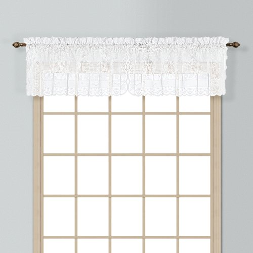 United Curtain Windsor Lace Straight Valance, 56 by 16-Inch, (Windsor Valance)
