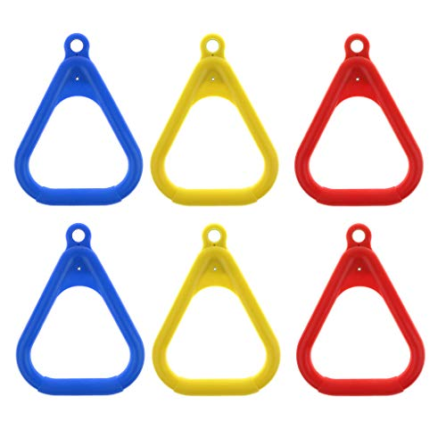 DYNWAVE 6pcs Trapeze Rings for Swing Outdoor Playground Equipment Swing Ring Accs