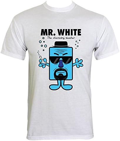 MR. White Química Profesor – Camiseta de hombre Blanco blanco large: Amazon.es: Ropa y accesorios