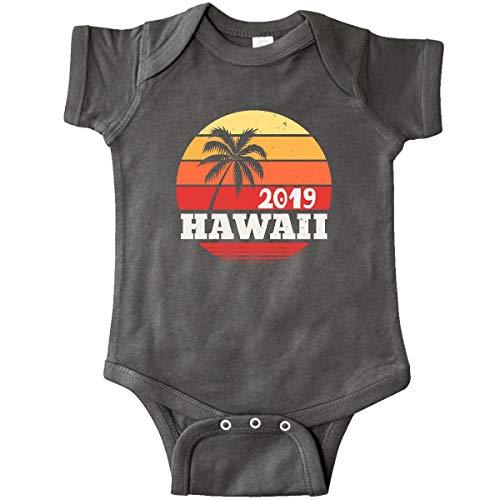 inktastic - 2019 Hawaii Vacation Infant Creeper 24 Months Charcoal Grey 32406 (Hawaiian 1980s Shirt)