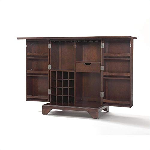Crosley Furniture KF40001BMA Lafayette Expandable Top Bar Cabinet-Vintage Mahogany from Crosley Furniture