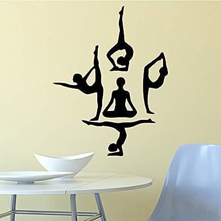 fancjj Chica de Yoga Pegatinas de Pared Etiqueta de la Pared ...