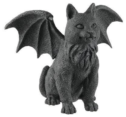 Winged Cat Gargoyle Statue Figurine Myth - Winged Cat