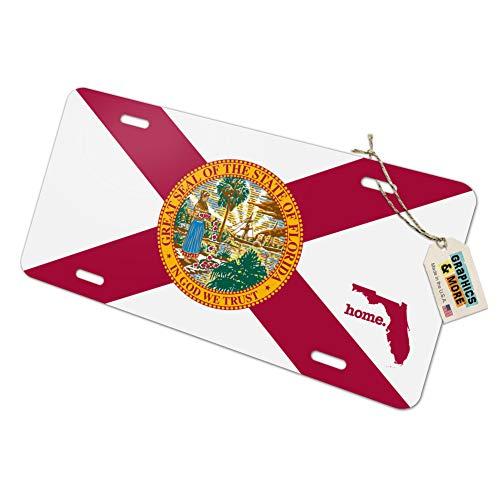 Florida FL Home State Novelty Metal Vanity License Tag Plate - Flag ()