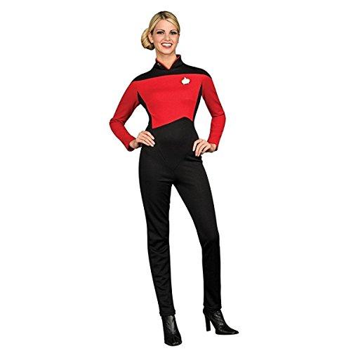 Secret Wishes  Star Trek the Next Generation Woman's Deluxe Red Jumpsuit, Adult (Star Trek Costumes Women)