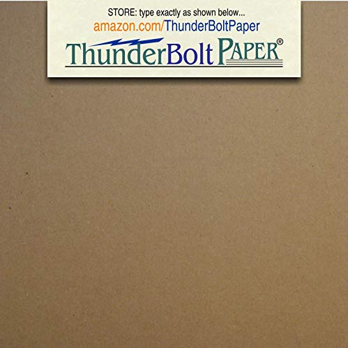 150 Sheets Chipboard 46pt (point) 4 X 4 Inches Medium Weight Scrapbook Square Size .046 Caliper Thickness Cardboard Craft|Packing Brown Kraft Paper -