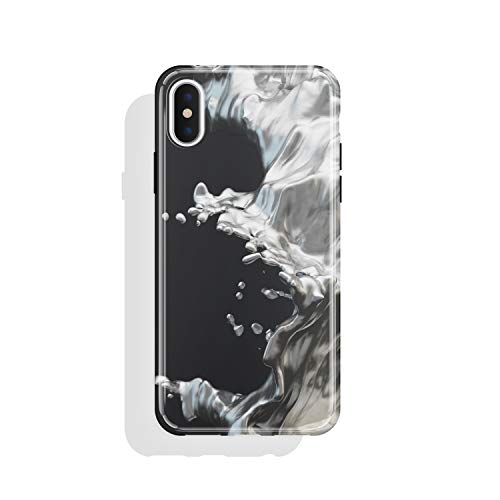 iPhone X & iPhone Xs case for Girls, Akna High Impact Flexible Hard Cover for Both iPhone X and iPhone Xs [Splash Silver](733-U.S)