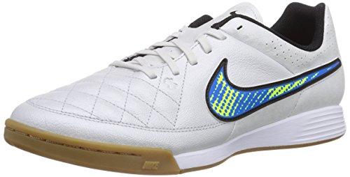 Nike Herren Tiempo Genio Leder IC Fußballschuhe Weiß, Soar, Volt