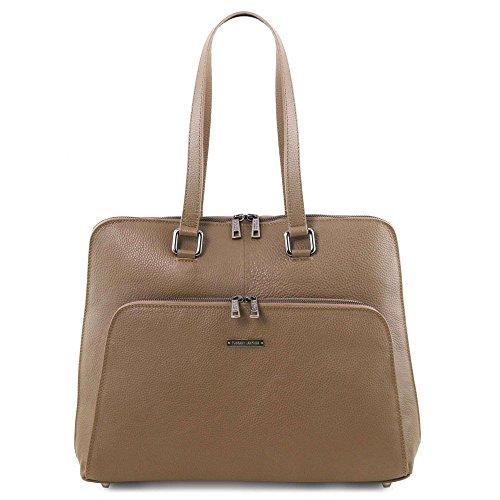 Tl141630 De Tuscany Para Compact Mujer Piel Hombro Leather Marrón Bolso Al 6wHrq5HX