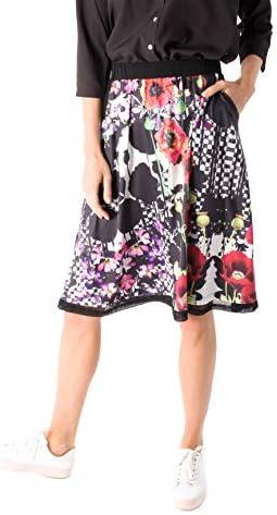 Smash! Falda con Estampado Combinado Geométrico y Floral Falda ...