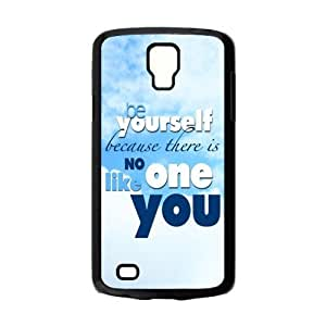 Design Snap-on Creative Theme Be yourself and believe in yourself in the world Hard Plastic Protective Case Shell for Samsung Galaxy S4 Active i9295 Cover-4