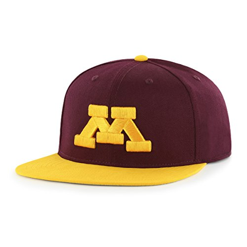NCAA Minnesota Golden Gophers Adult Gallant Ots Varsity Snapback Adjustable Hat, One Size, Dark Maroon
