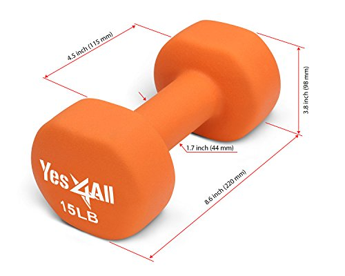 Neoprene Dumbbells (single) 15 lbs - Lowest price on Amazon - ²DOLBZ