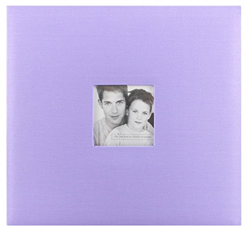 MCS MBI 13.5x12.5 Inch Fashion Fabric Scrapbook Album with 12x12 Inch Pages with Photo Opening, Lilac (802517)