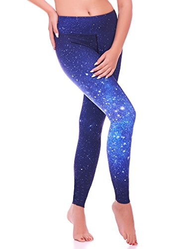 Mio Active Long Blue Galaxy Yoga Pants MS16S6S