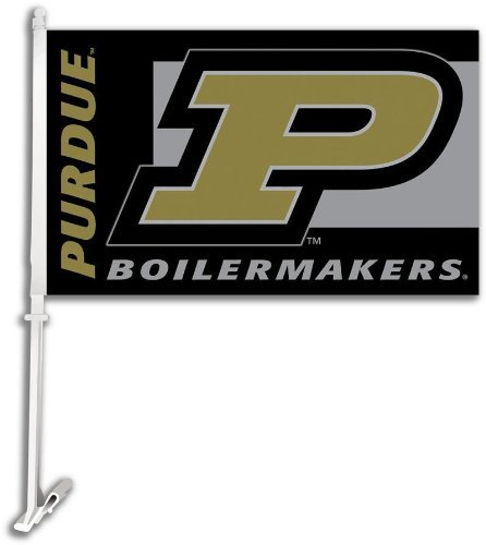 - NCAA Purdue Boilermakers Car Flag with Free Wall Bracket
