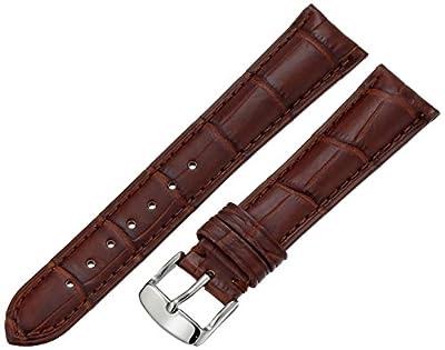 Hadley-Roma Men's MSM824RA-180 18-mm Black Genuine Alligator Leather Watch Strap from Hadley-Roma