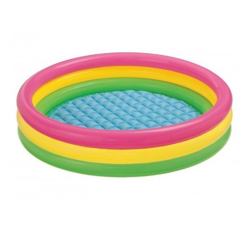Kids Inflatable Swimming Pool (Intex Kiddie Pool - Kid's Summer Sunset Glow Design - 58