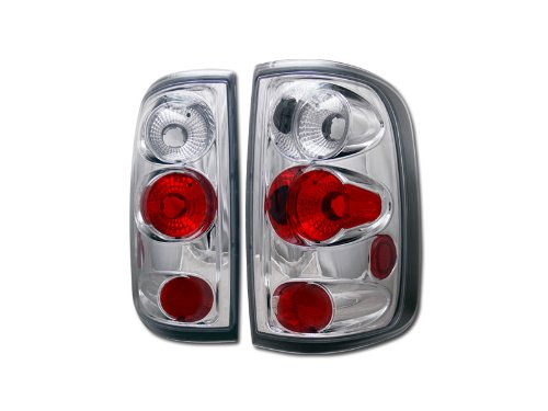 (Euro Chrome Altezza Tail Lights Lamps 2004-2008 for Ford F150 Truck CAB STYLESIDE)