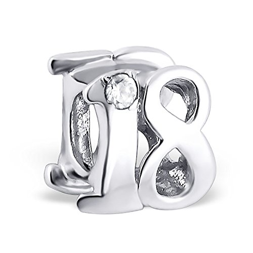 .925 Sterling Silver Number 18 Eighteen 18th Birthday