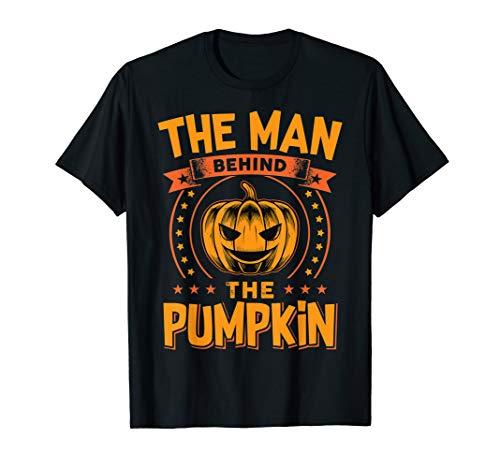 Halloween Dad His Guy Man Behind The Pumpkin T-Shirt -