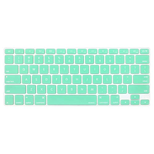 MOSISO Silicone Keyboard Cover Compatible MacBook Pro 13/15 Inch (with/Without Retina Display, 2015 or Older Version), Older MacBook Air 13 Inch (A1466 / A1369, Release 2010-2017), Mint Green ()