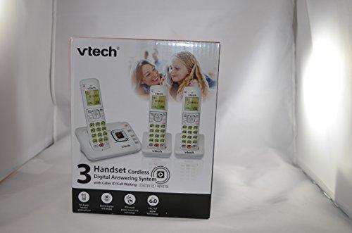 Vtech 3 Handset Cordless Phone WHITE Answering System