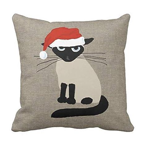 Amazon.com: Siamese - Fundas de almohada decorativas de ...