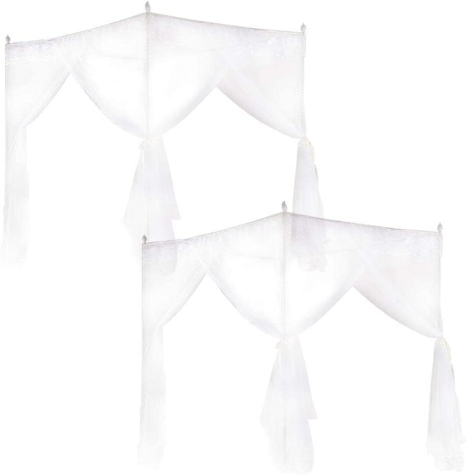 L Wifehelper Mosquito Net Princess Three Side Openings Post Bed Curtain Canopy Netting Mosquito Net Bedding