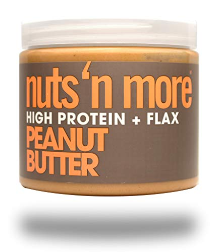 (Nuts 'N More Peanut Butter Spread, High Protein Nut Butter Snack, Keto, Low Carb, Low Sugar, Gluten Free, All Natural, 16 oz Jar)