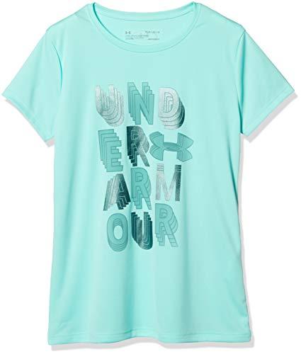 Under Armour Linear Wordmark Short sleeve, Neo Turquoise//Azure Teal, Youth Medium ()