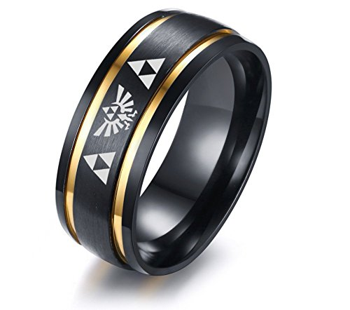 VNOX 8MM Legend of Zelda Two-Tone Stainless Steel Brushed for sale  Delivered anywhere in Canada