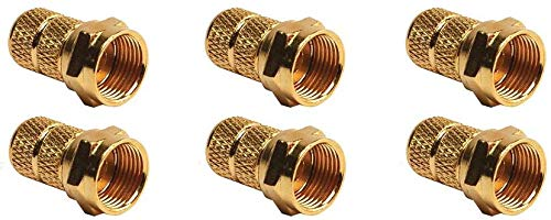(RV Designer T183, RG59-Gold Cable Connector, Twist On, 2 Per Pack (3 Pair))
