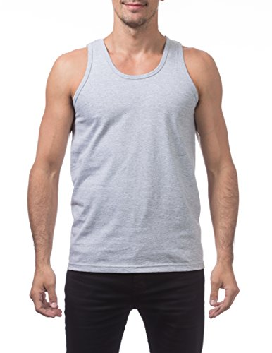 Athletic Club (Pro Club Men's Heavyweight Cotton Tank Top Outerwear, 5X-Large, Heather Gray)