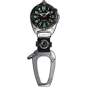 Dakota Watch Company Easy-to-Read Flashlight Clip Watch