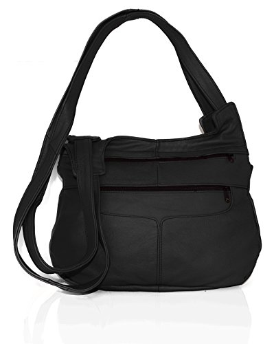Leather Women Crossbody Black AFONiE Leather Handbag Genuine handbag Mexican Shoulder Hobo cT4CU4fW