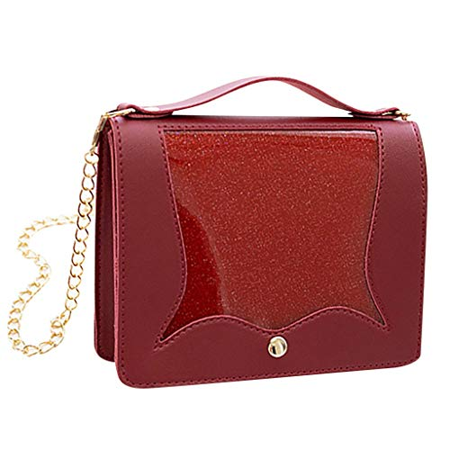 Messenger Bags for Women,SIN+MON Womens Fashion Shoulder Bags Chain Strap Crossbody Bags Totes Bags Covered Transparent Bag (Prada-outlet-online-shop)