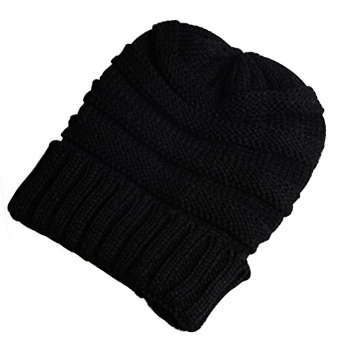 MissWho Slouchy Beanie Hat, Knit Winter Soft Warm Hats Baggy Cap For Women and Men Pack