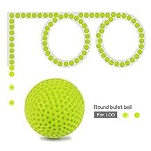 JouerNow 100Pcs Green Round Refill Bullet Balls 2.3cm Compatible For Nerf Rival Apollo Zeus Toy Gun Kid Game Play