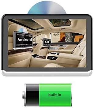 WY-CAR 10.1 Pulgadas del reposacabezas del Coche Monitor 1080P, Android 6.0 Series, bateriacute;a incorporada, DVD, Bluetooth, microacute;Fono, transmisor FM, USB, Salida HDMI, TF, Smart Link, hogar.
